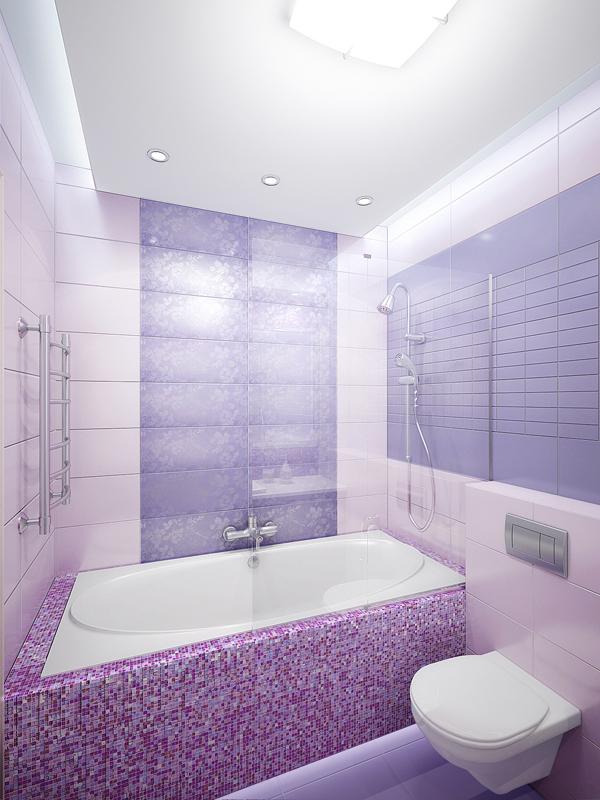 Ванная в лиловых оттенках