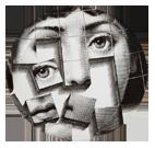 Аксессуары. Декоративная тарелка Форнасетти Серия декоративных тарелок итальянского дизайнера и художника Пьеро Форназетти. Самый известный и узнаваемый мотив его творчества – загадочное лицо красавицы Наталины Кавальери ( 1874 — 1944) – итальянской оперной дивы, блиставшей на сценах Лондона, Париж