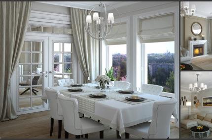 Квартира в стиле неоклассика с элементами этно
