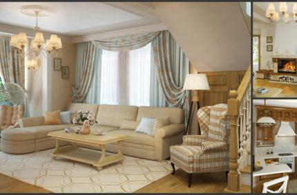 Дом в классическом стиле с элементами стиля прованс